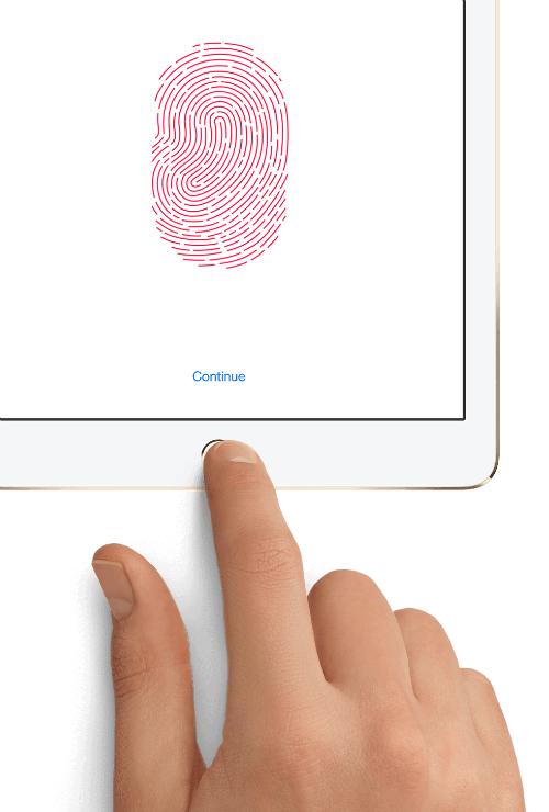 Touch ID fingerprint sensor