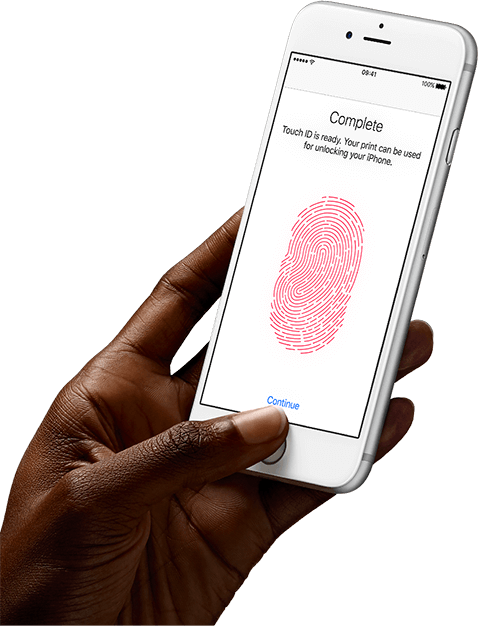 iphone hand png. touch id iphone hand png