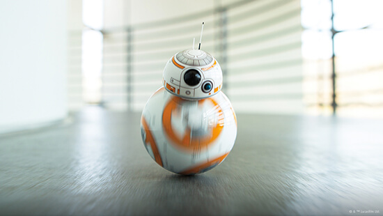 Control BB-8<sup>TM</sup> yourself or let it explore on its own