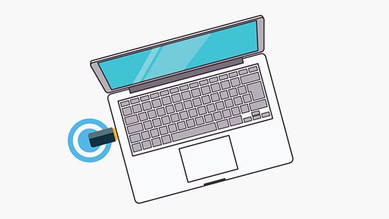 Connect your laptop with one of our dongles