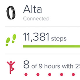 fitbit alta how to change to steps from miles
