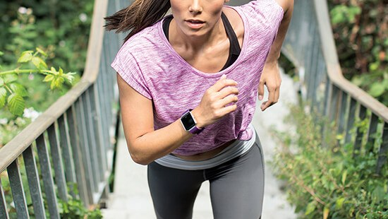 Keep fit with built-in workout plans