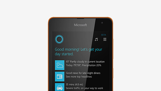 Keep on top of things with Cortana, your very own personal assistant