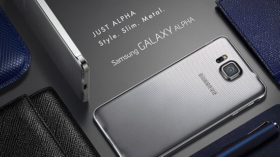 Look good with the Galaxy Alpha's slim and stylish design