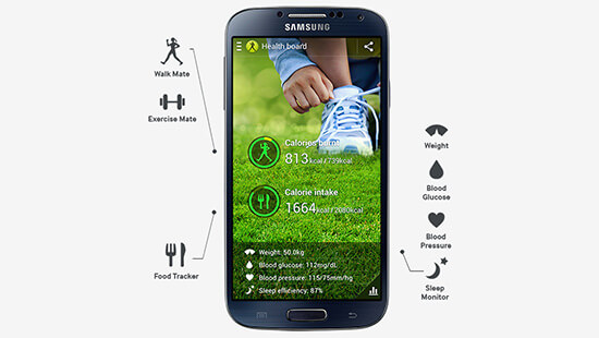Keep fit with the help of S Health and your S4