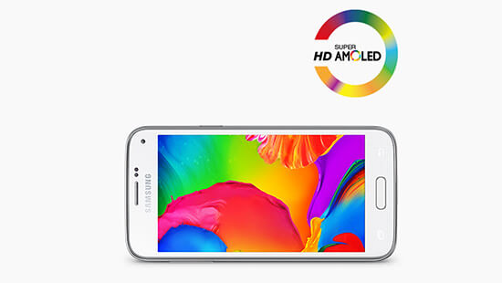See a clear picture on the 4.5 inch HD Super AMOLED display
