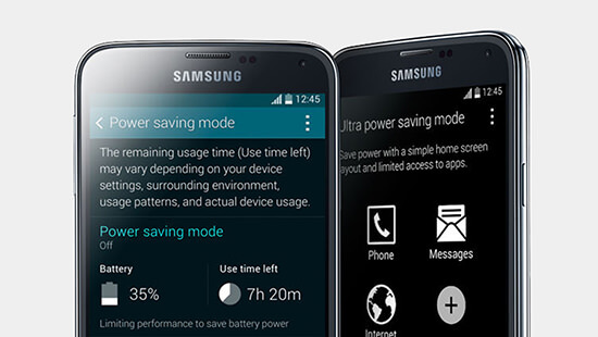 Ultra Power Saving Mode keeps you going for longer