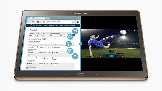 See and do more, with Samsung SideSync and split screen
