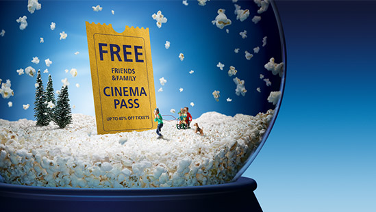 Claim a free cinema discount pass